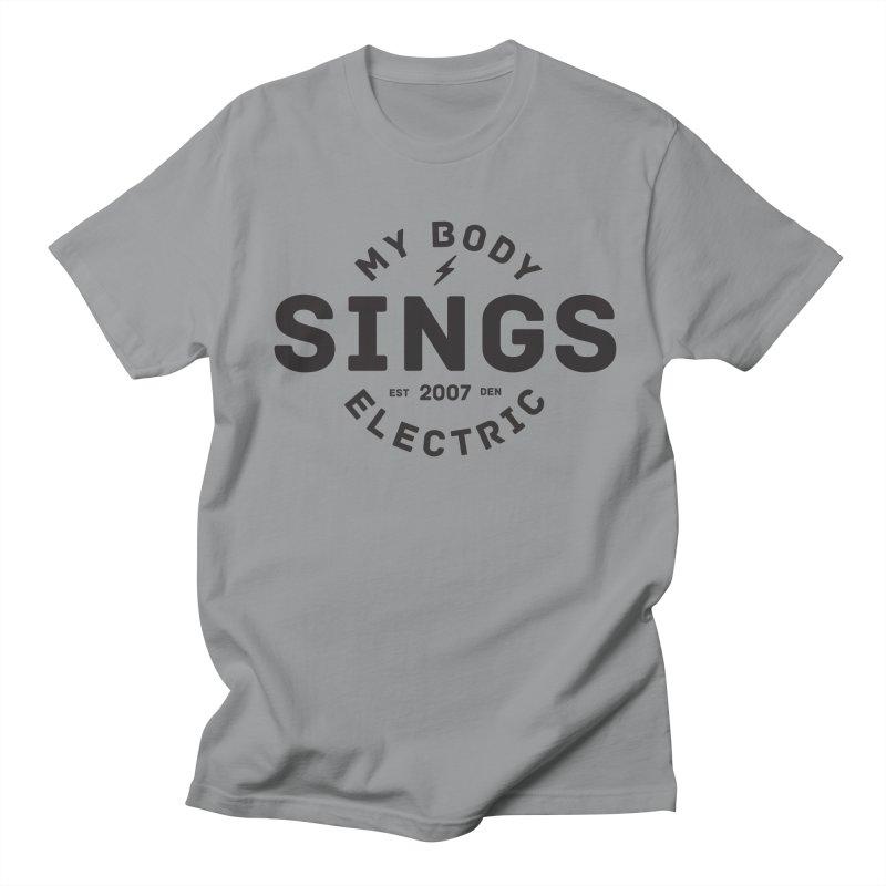 Bomber Logo (Black) Women's Regular Unisex T-Shirt by My Body Sings Electric Merch   Shop Men, Women, an
