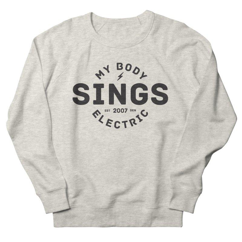 Bomber Logo (Black) Men's Sweatshirt by My Body Sings Electric Merch   Shop Men, Women, an