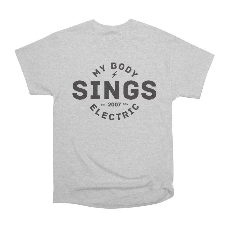 Bomber Logo (Black) Women's Heavyweight Unisex T-Shirt by My Body Sings Electric Merch | Shop Men, Women, an