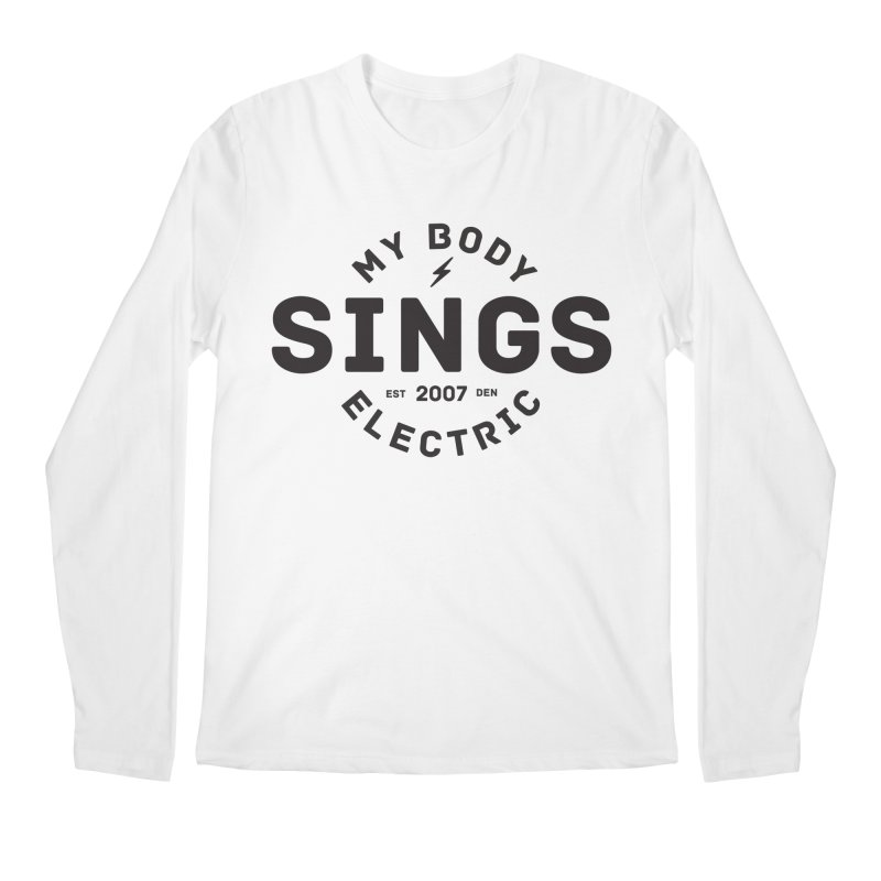 Bomber Logo (Black) Men's Regular Longsleeve T-Shirt by My Body Sings Electric Merch | Shop Men, Women, an