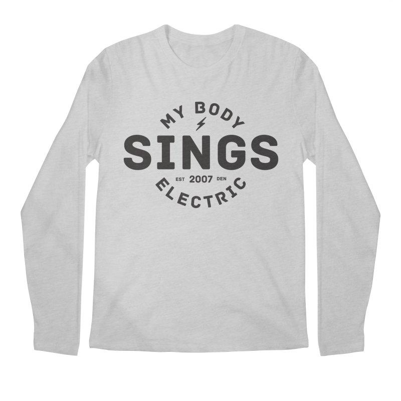 Bomber Logo (Black) Men's Regular Longsleeve T-Shirt by My Body Sings Electric Merch | Shop Men, Women, an