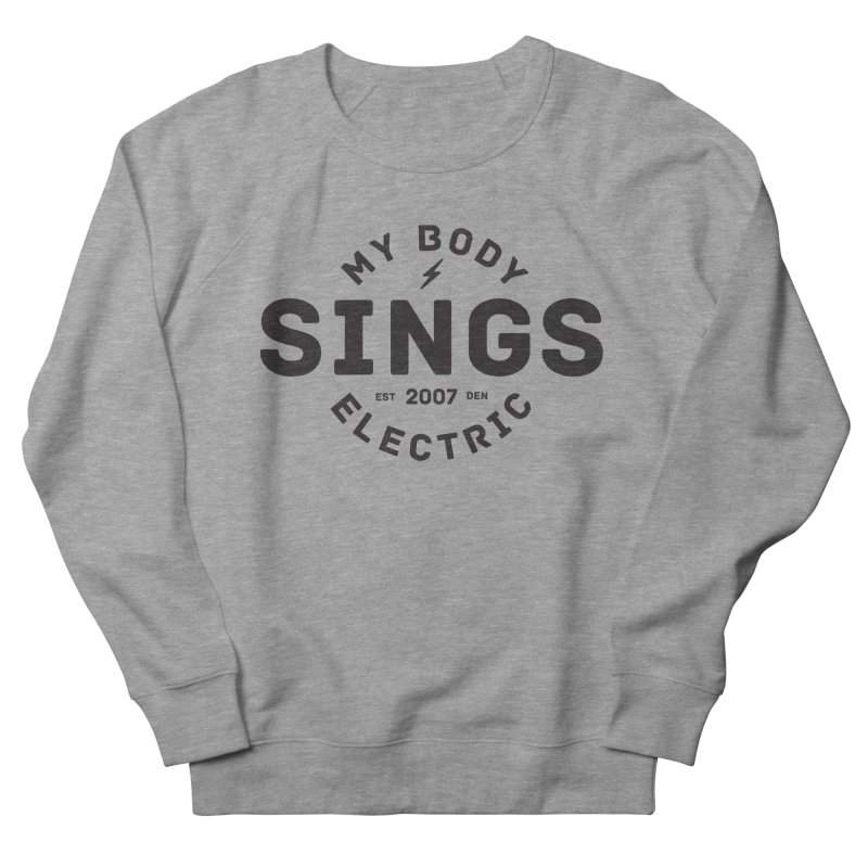 Bomber Logo (Black) Men's French Terry Sweatshirt by My Body Sings Electric Merch   Shop Men, Women, an