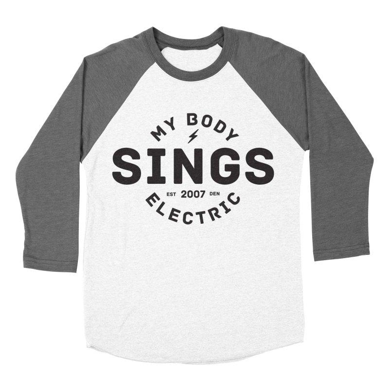 Bomber Logo (Black) Women's Baseball Triblend Longsleeve T-Shirt by My Body Sings Electric Merch   Shop Men, Women, an