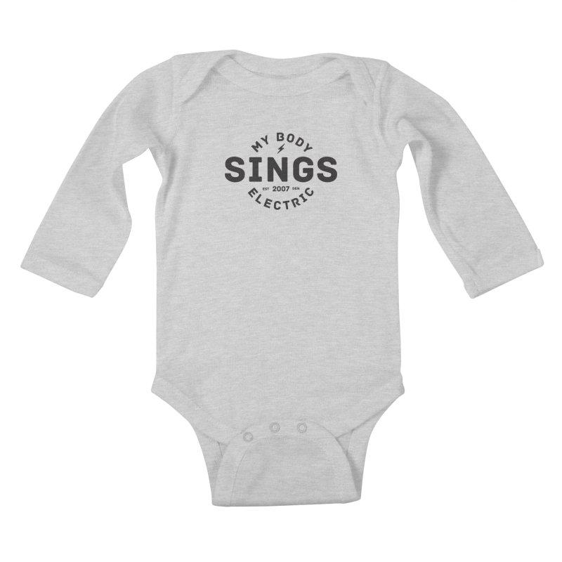Bomber Logo (Black) Kids Baby Longsleeve Bodysuit by My Body Sings Electric Merch | Shop Men, Women, an