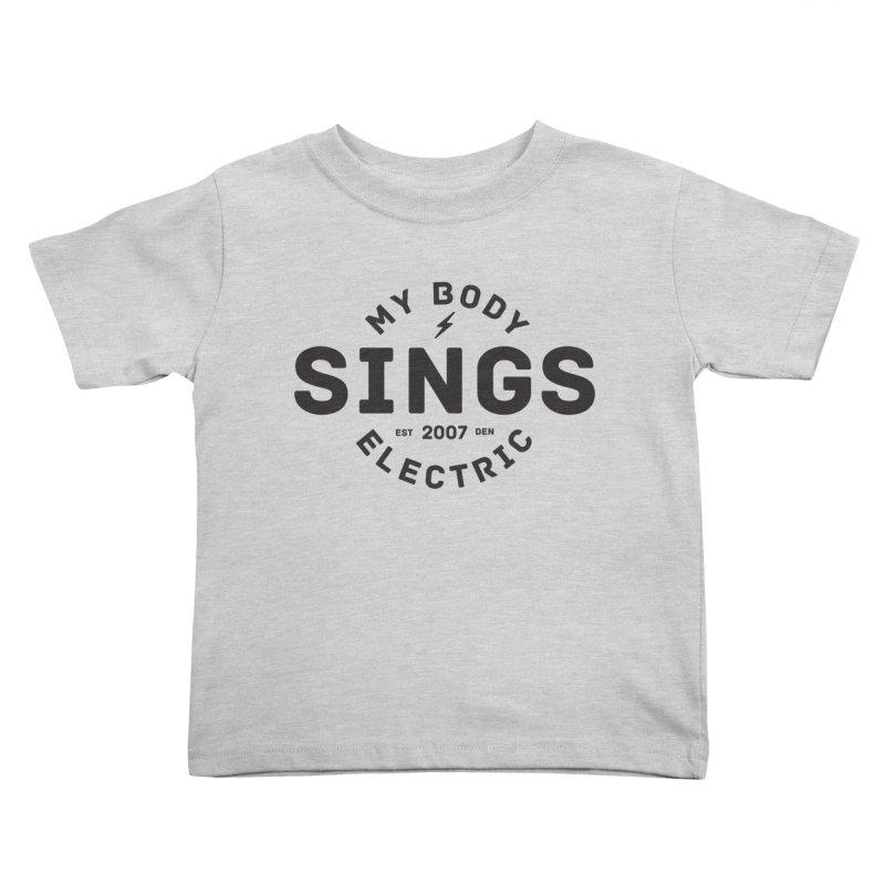 Bomber Logo (Black) Kids Toddler T-Shirt by My Body Sings Electric Merch   Shop Men, Women, an