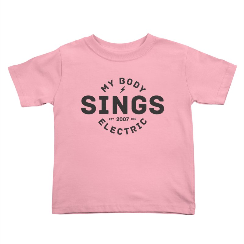 Bomber Logo (Black) Kids Toddler T-Shirt by My Body Sings Electric Merch | Shop Men, Women, an