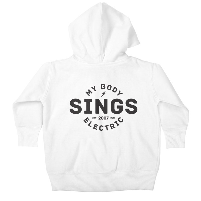Bomber Logo (Black) Kids Baby Zip-Up Hoody by My Body Sings Electric Merch | Shop Men, Women, an