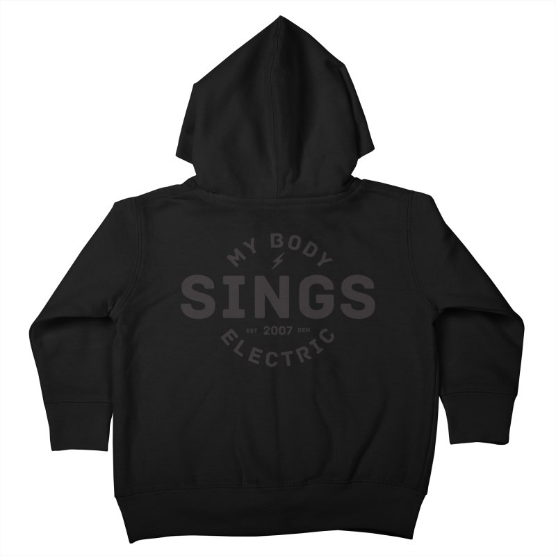 Bomber Logo (Black) Kids Toddler Zip-Up Hoody by My Body Sings Electric Merch | Shop Men, Women, an