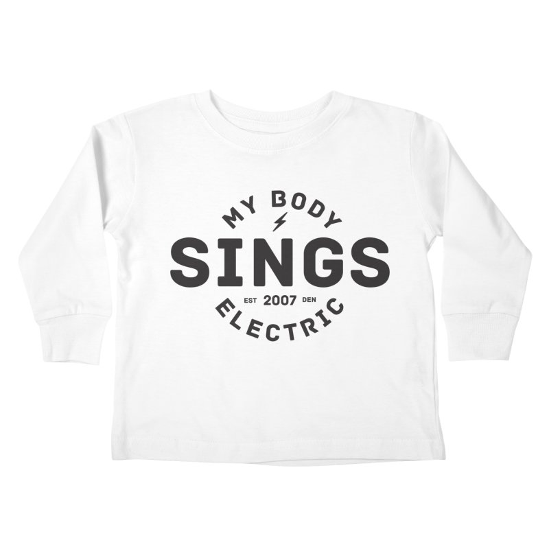 Bomber Logo (Black) Kids Toddler Longsleeve T-Shirt by My Body Sings Electric Merch | Shop Men, Women, an