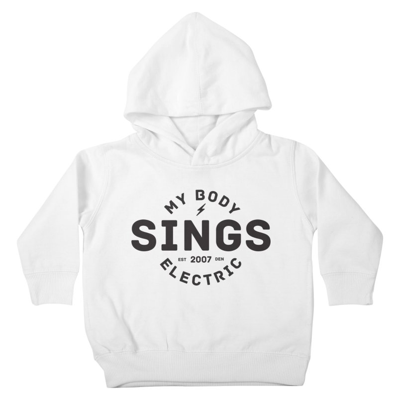 Bomber Logo (Black) Kids Toddler Pullover Hoody by My Body Sings Electric Merch | Shop Men, Women, an