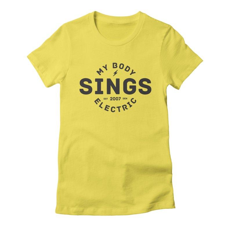 Bomber Logo (Black) Women's T-Shirt by My Body Sings Electric Merch | Shop Men, Women, an