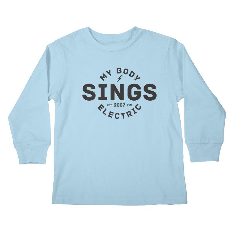 Bomber Logo (Black) Kids Longsleeve T-Shirt by My Body Sings Electric Merch   Shop Men, Women, an
