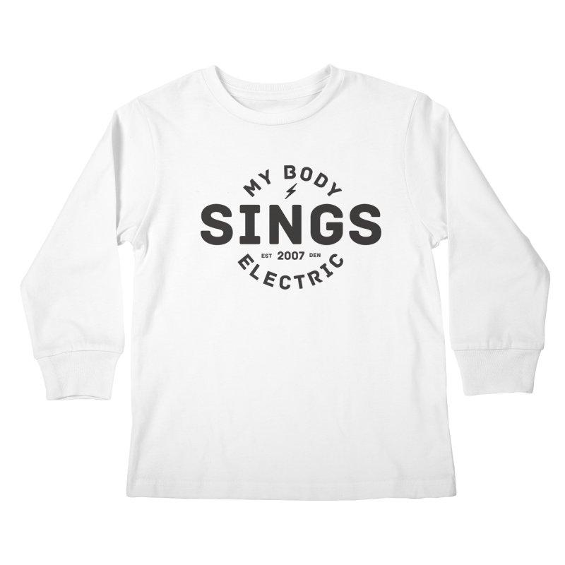 Bomber Logo (Black) Kids Longsleeve T-Shirt by My Body Sings Electric Merch | Shop Men, Women, an