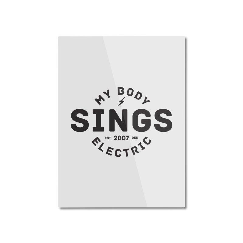 Bomber Logo (Black) Home Mounted Aluminum Print by My Body Sings Electric Merch   Shop Men, Women, an