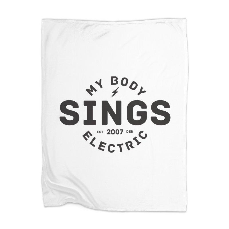 Bomber Logo (Black) Home Blanket by My Body Sings Electric Merch   Shop Men, Women, an