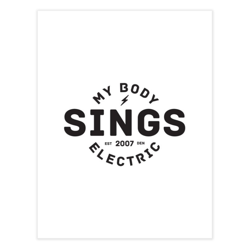 Bomber Logo (Black) Home Fine Art Print by My Body Sings Electric Merch | Shop Men, Women, an