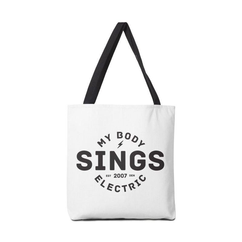 Bomber Logo (Black) Accessories Bag by My Body Sings Electric Merch | Shop Men, Women, an