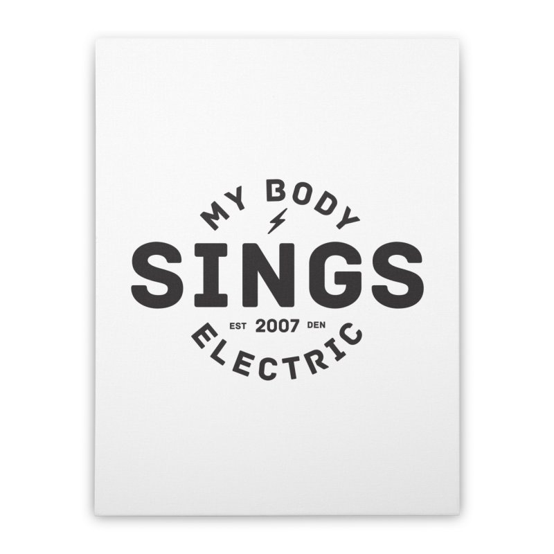 Bomber Logo (Black) Home Stretched Canvas by My Body Sings Electric Merch | Shop Men, Women, an