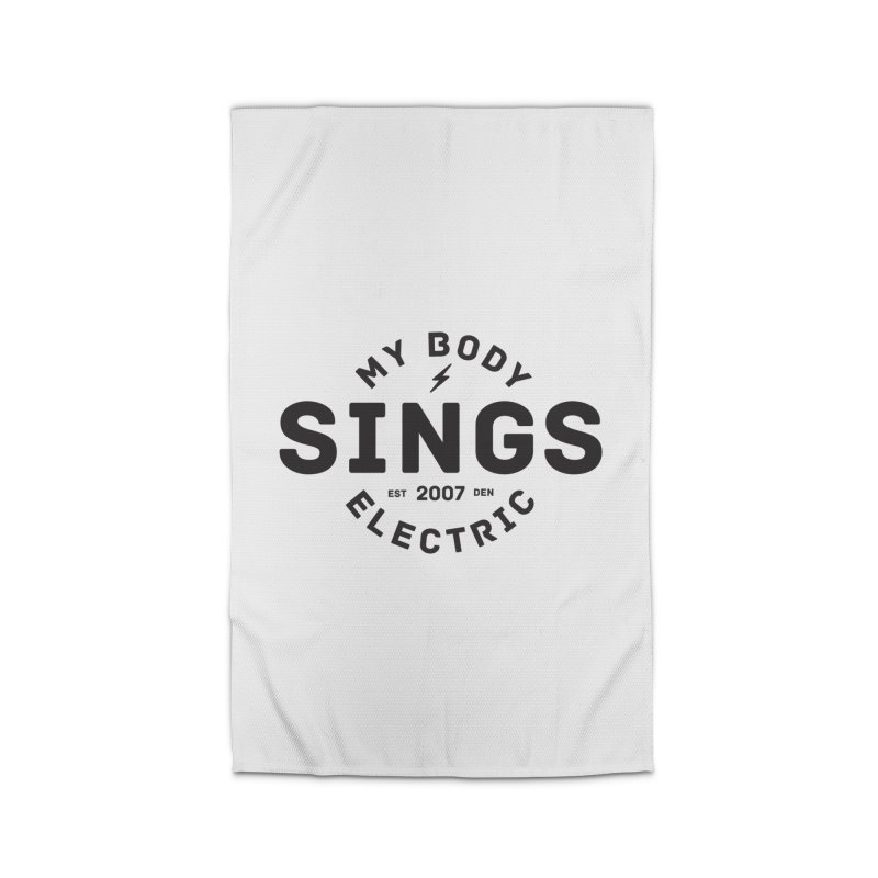 Bomber Logo (Black) Home Rug by My Body Sings Electric Merch | Shop Men, Women, an