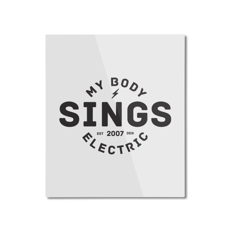 Bomber Logo (Black) Home Mounted Aluminum Print by My Body Sings Electric Merch | Shop Men, Women, an
