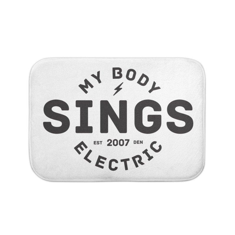 Bomber Logo (Black) Home Bath Mat by My Body Sings Electric Merch | Shop Men, Women, an