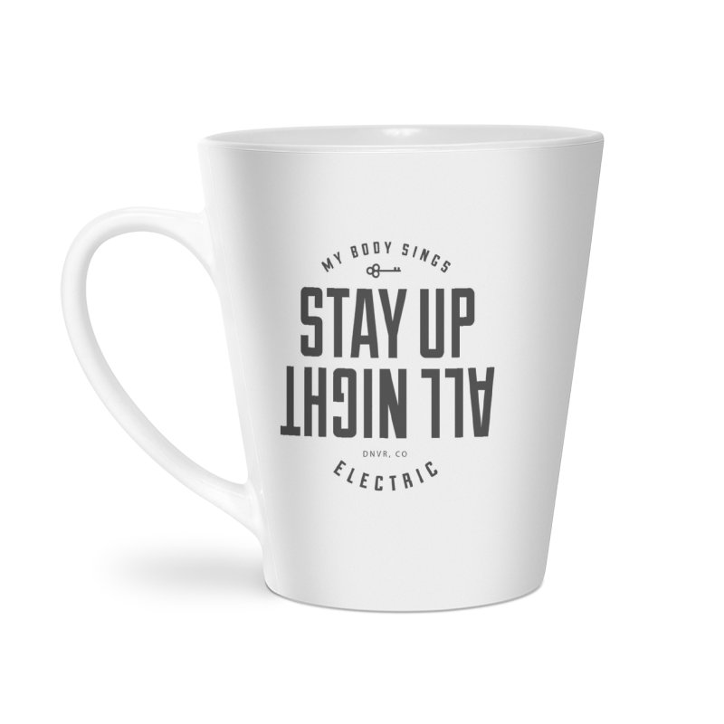 Up All Night (Black) Accessories Mug by My Body Sings Electric Merch | Shop Men, Women, an