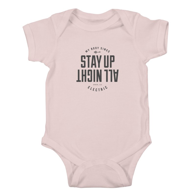 Up All Night (Black) Kids Baby Bodysuit by My Body Sings Electric Merch | Shop Men, Women, an