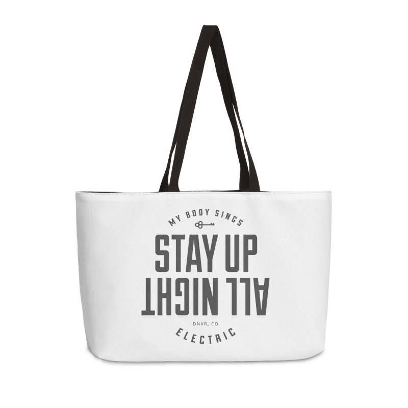 Up All Night (Black) Accessories Weekender Bag Bag by My Body Sings Electric Merch | Shop Men, Women, an