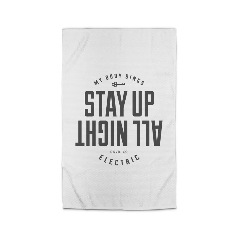 Up All Night (Black) Home Rug by My Body Sings Electric Merch | Shop Men, Women, an
