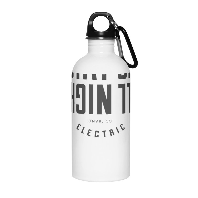 Up All Night (Black) Accessories Water Bottle by My Body Sings Electric Merch | Shop Men, Women, an
