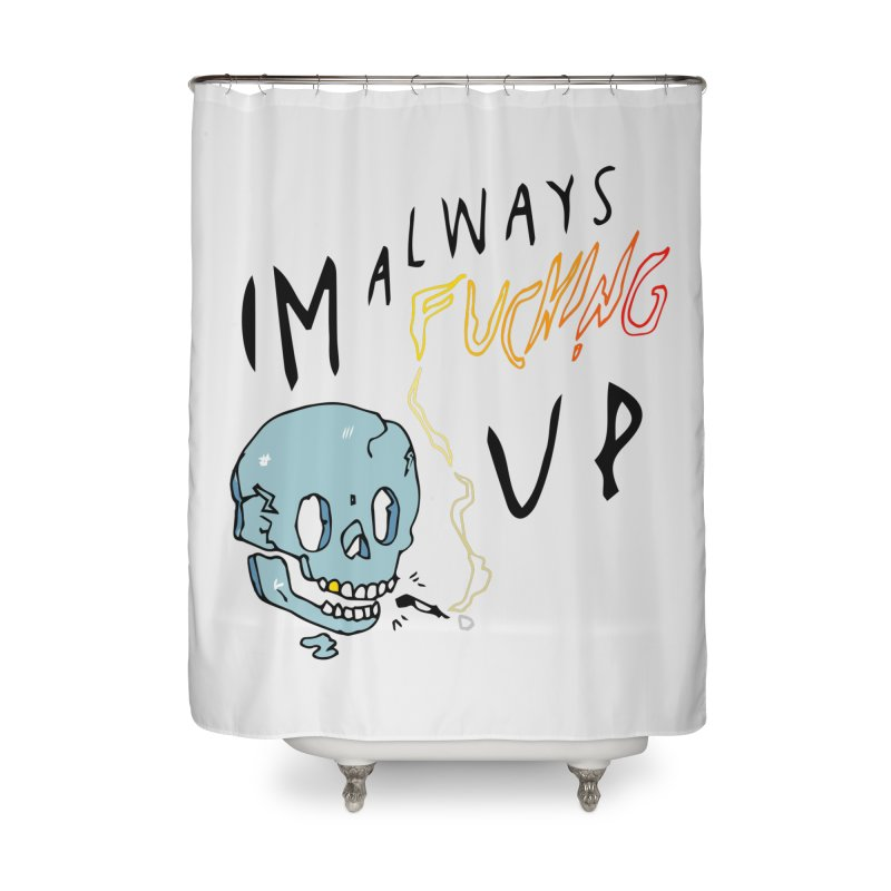 Effed Up Home Shower Curtain by My Body Sings Electric Merch | Shop Men, Women, an