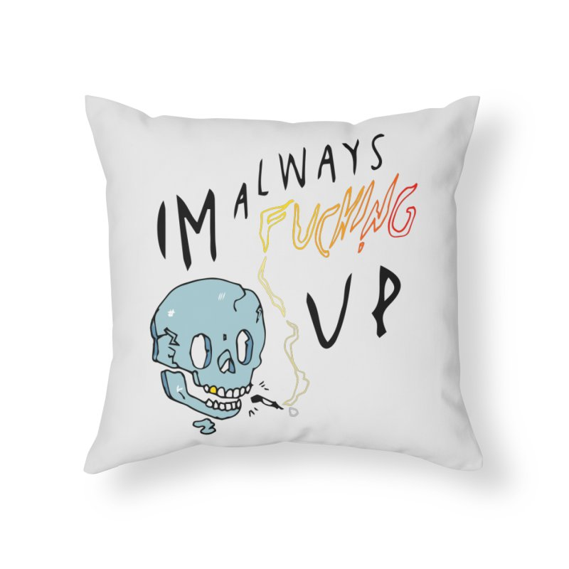 Effed Up Home Throw Pillow by My Body Sings Electric Merch | Shop Men, Women, an