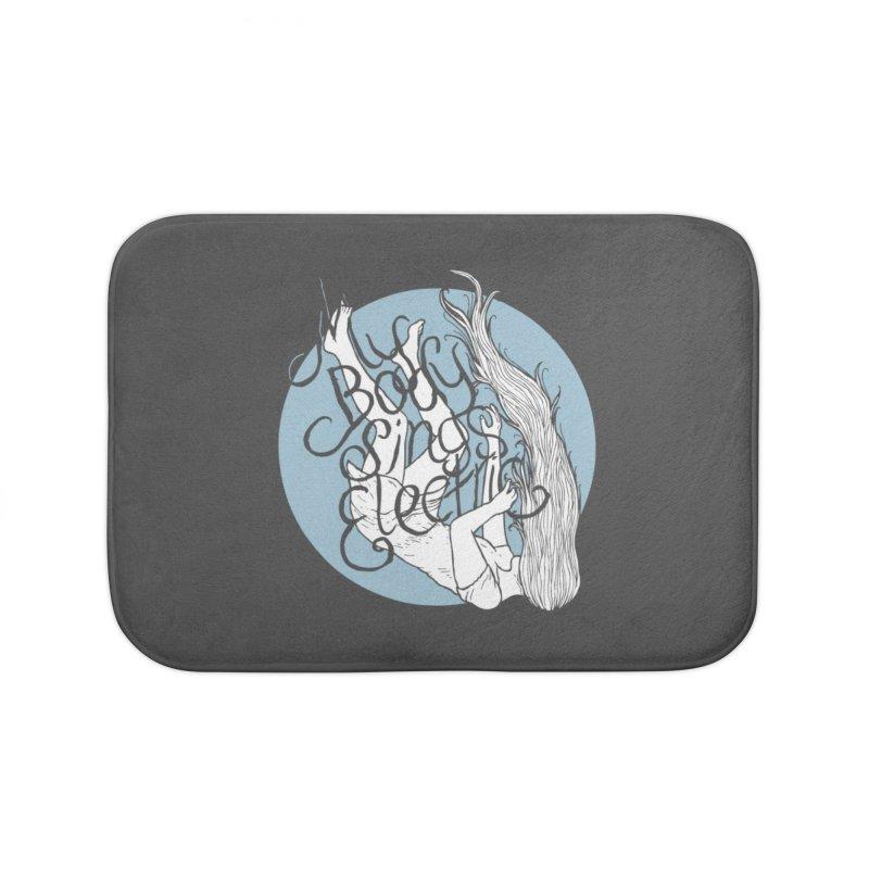 Falling For You (Blue) Home Bath Mat by My Body Sings Electric Merch | Shop Men, Women, an