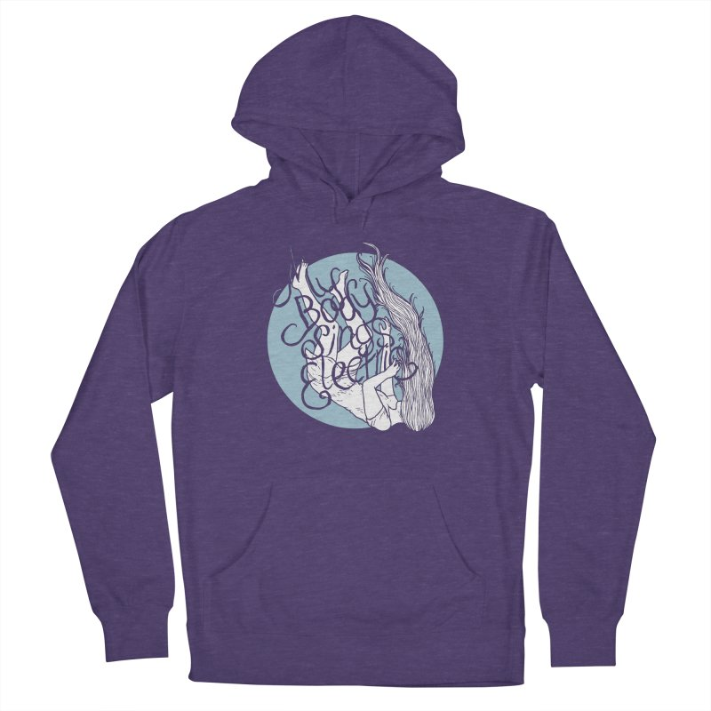 Falling For You (Blue) Men's French Terry Pullover Hoody by My Body Sings Electric Merch | Shop Men, Women, an