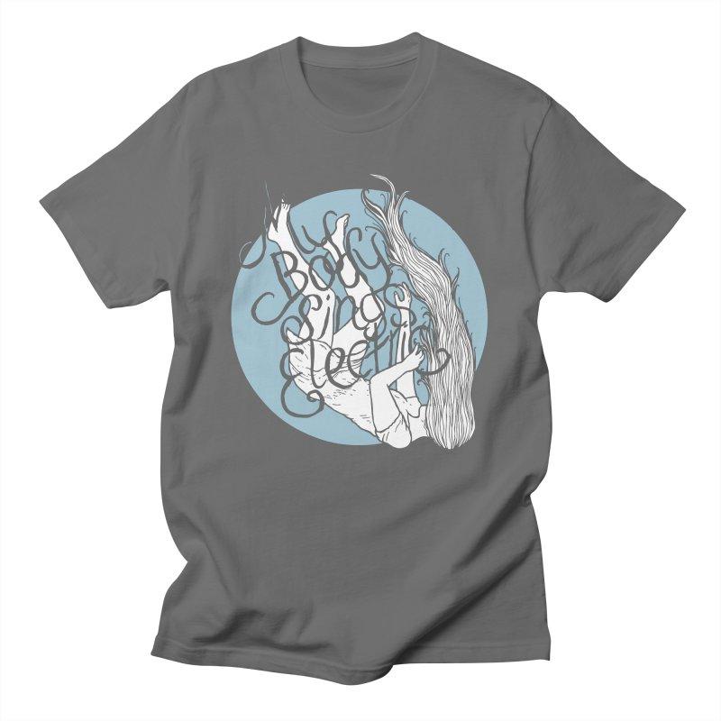 Falling For You (Blue) Men's T-Shirt by My Body Sings Electric Merch | Shop Men, Women, an