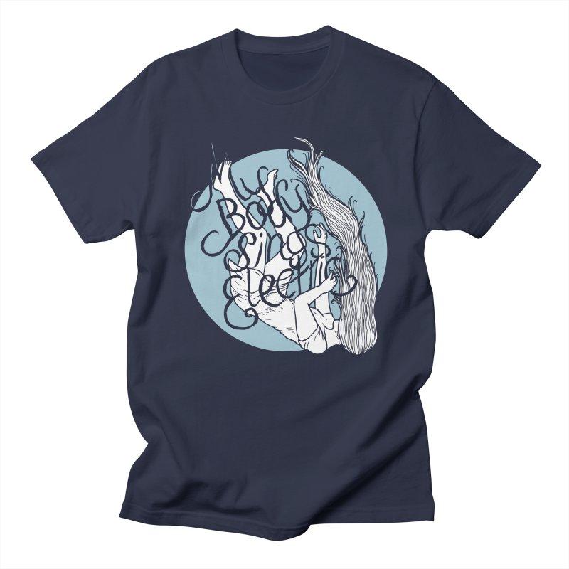 Falling For You (Blue) Women's Regular Unisex T-Shirt by My Body Sings Electric Merch | Shop Men, Women, an