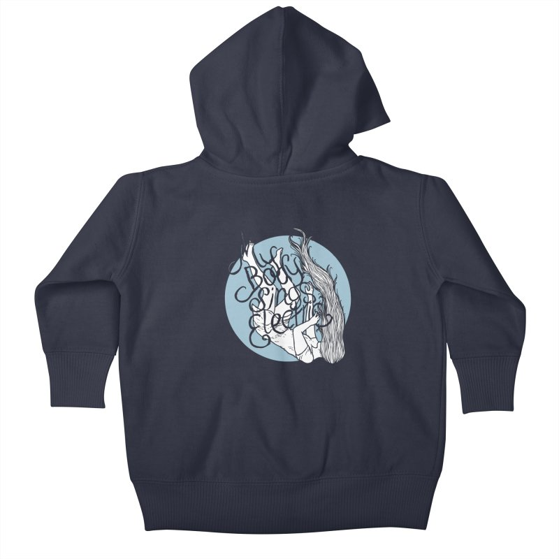 Falling For You (Blue) Kids Baby Zip-Up Hoody by My Body Sings Electric Merch | Shop Men, Women, an