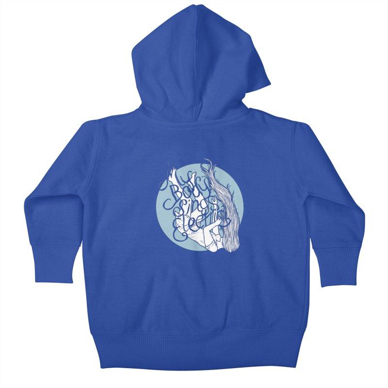 Falling For You (Blue) Kids Baby Zip-Up Hoody by My Body Sings Electric Merch   Shop Men, Women, an