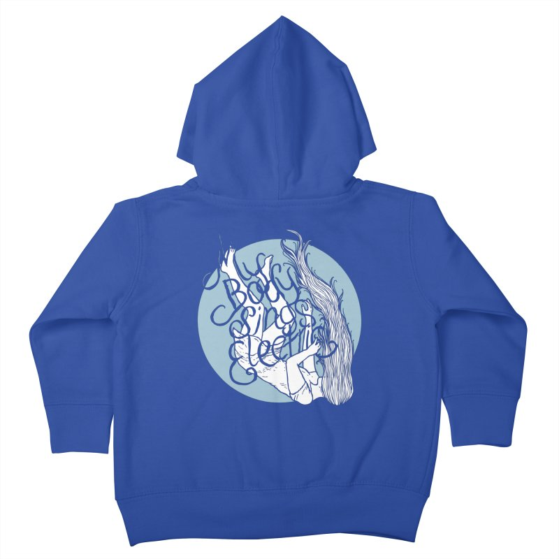 Falling For You (Blue) Kids Toddler Zip-Up Hoody by My Body Sings Electric Merch | Shop Men, Women, an