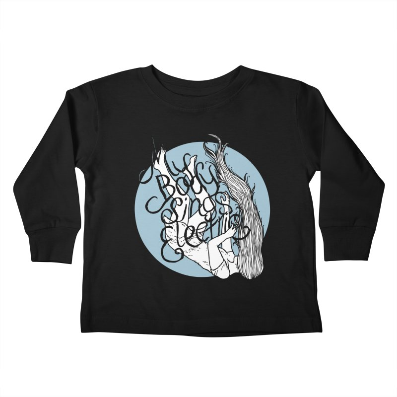 Falling For You (Blue) Kids Toddler Longsleeve T-Shirt by My Body Sings Electric Merch | Shop Men, Women, an