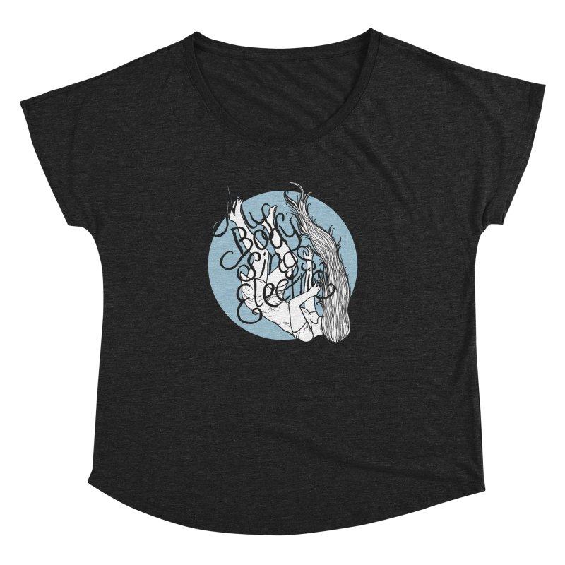 Falling For You (Blue) Women's Dolman Scoop Neck by My Body Sings Electric Merch | Shop Men, Women, an