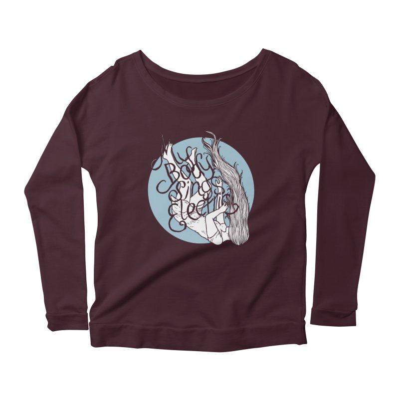 Falling For You (Blue) Women's Scoop Neck Longsleeve T-Shirt by My Body Sings Electric Merch | Shop Men, Women, an