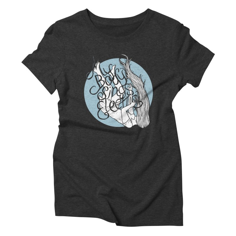 Falling For You (Blue) Women's Triblend T-Shirt by My Body Sings Electric Merch | Shop Men, Women, an