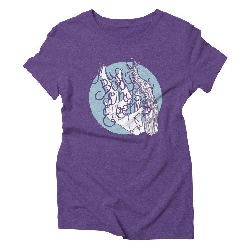 Falling For You (Blue) Women's T-Shirt by My Body Sings Electric Merch | Shop Men, Women, an