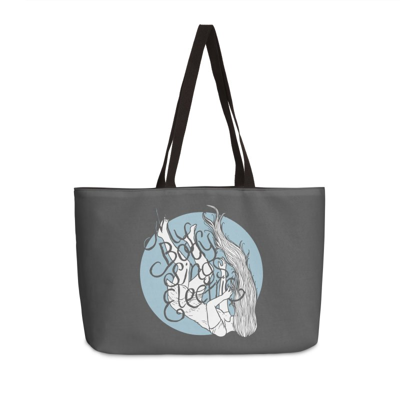 Falling For You (Blue) Accessories Weekender Bag Bag by My Body Sings Electric Merch | Shop Men, Women, an