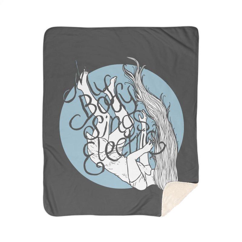 Falling For You (Blue) Home Blanket by My Body Sings Electric Merch | Shop Men, Women, an