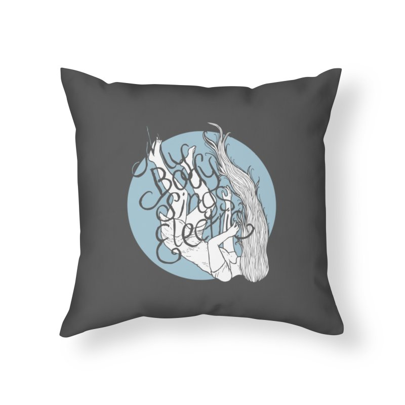 Falling For You (Blue) Home Throw Pillow by My Body Sings Electric Merch | Shop Men, Women, an