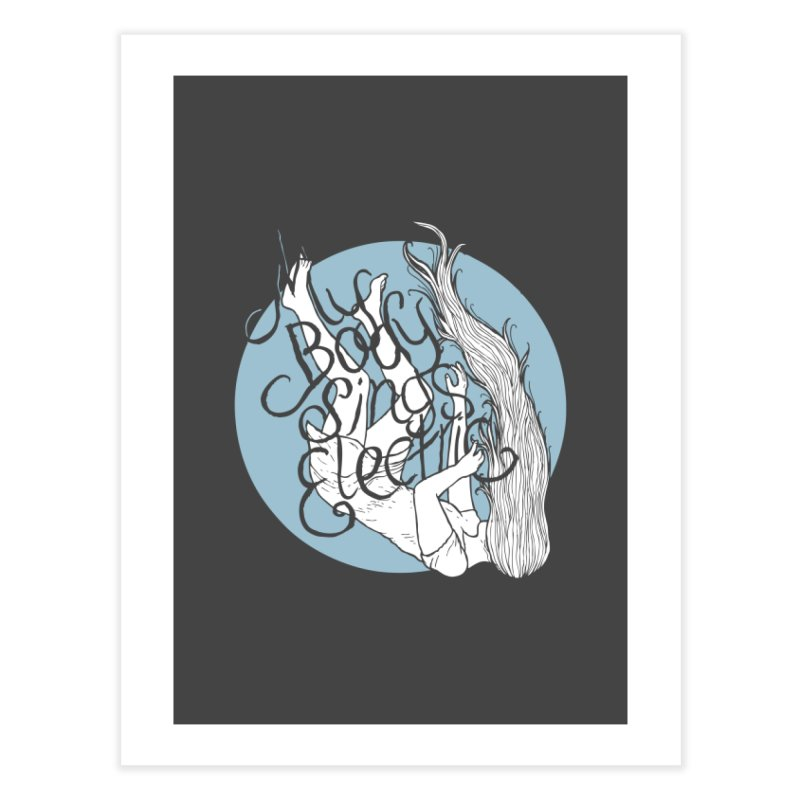 Falling For You (Blue) Home Fine Art Print by My Body Sings Electric Merch | Shop Men, Women, an