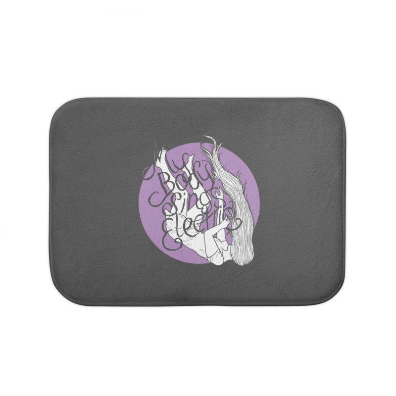 Falling For You (Purple) Home Bath Mat by My Body Sings Electric Merch | Shop Men, Women, an