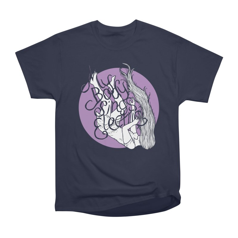 Falling For You (Purple) Men's Heavyweight T-Shirt by My Body Sings Electric Merch | Shop Men, Women, an